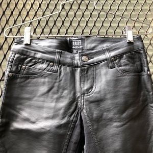NWOT Tripp NYC Leather and Fabric Skinny Pants W25